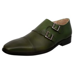 Green Men Double Monk Shoes, Size: 6-12