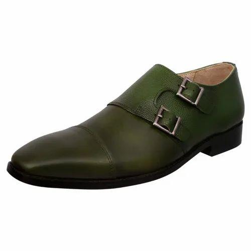 884bc6a90a062 Green Men Double Monk Shoes, Size: 6-12, Rs 1800 /pair, Cervo Shoes ...