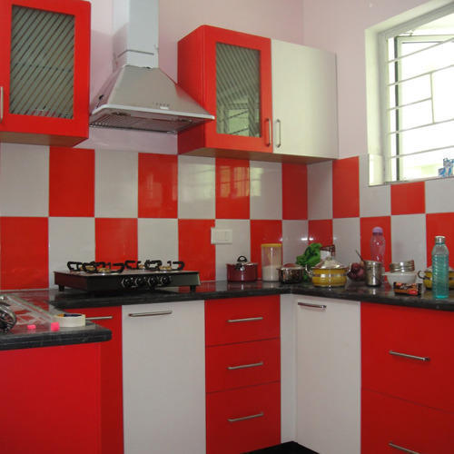 Charmant Red U0026 White Modular Kitchen