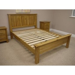 Sheesham Wood Wooden Double Bed Frame, Size: 6x6 Feet
