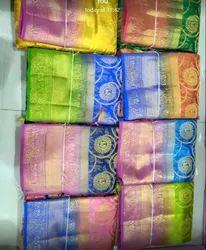 Silk Real Zari Gold Pattu Imitation Sarees, 6.3 m (With Blouse Piece)