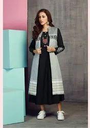 Pr Fashion Launched Designer Jacket Patterned Readymade Kurti