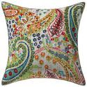 Paisley Kantha Printed Bedroom Bohemian 16X16 Cushion Cover
