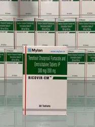Ricovir EM 200 mg/300 mg Tablet