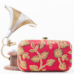 Embroidered Clutch Bag