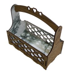Brown Wood Diwali Gift Basket, 250 Gm