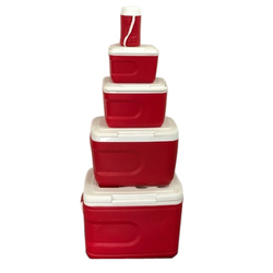 Helitap Red And White Plastic Ice Box Set, Capacity: 1 L And Also Available In 5.5 L and 31 L