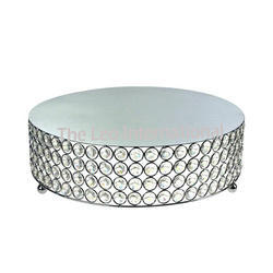 Decorative Crystal Beads Metal Cake Stand
