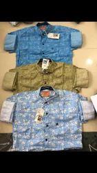 Cotton Blue Printed Shirts