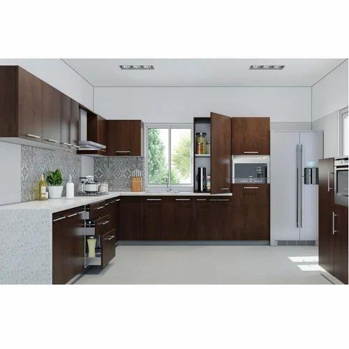 Livspace Juniper L Shape Kitchen