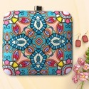 Multicolor Printed Clutch