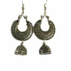 Mishra's Creations Oxidised German Silver Hanging Earring