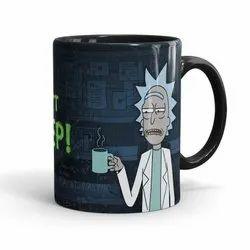 Black Ceramic Rick And Morty Dont Need Sleep Printed Mug, For Gifting, Capacity: 325 Ml