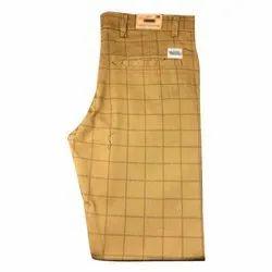 Mens Check Cotton Trousers