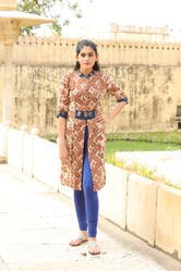 Cotton Front Cut Open Pattern Kurti