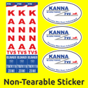 Plastic Non Tearable Stickers, Packaging Type: Packet