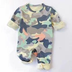 8c9b1ede381 Multicolour Camouflage Print Full Sleeve Romper
