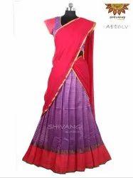 Trendy Yet Traditional Half / Davani / Langa Saree