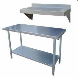 Rectangular Stainless Steel Kitchen Table