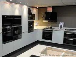 PVC L Shape Modular Kitchen, Work Provided: Wood Work & Furniture