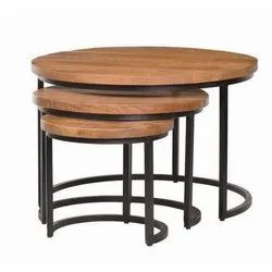 Brown and Black 3 Piece Center Table Set