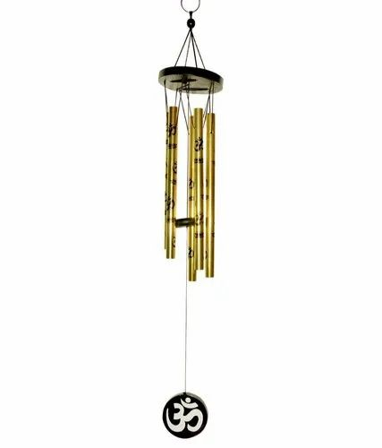 Golden Aluminium Om Wind Chime
