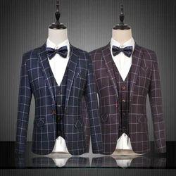 Mens Designer Three Piece Suit