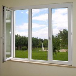 White Residential UPVC Casement Window