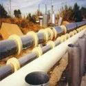PUF Pipe Section, hvac pipe section, chilled water pipe section