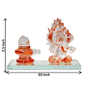 Ganesha Crystal Showpieces Car Dashboard Statues
