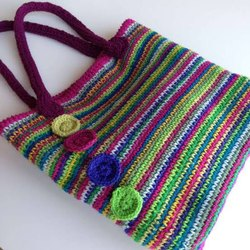Crochet Bags with flowers