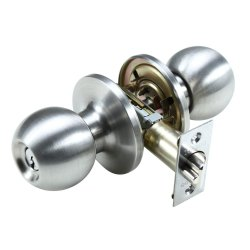 Stainelss Steel SS Door Knob Lock, Chrome