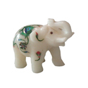 Gem Stone Inlay Work Indian Marble Elephant