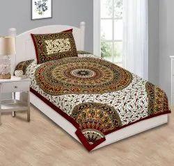 Jaipuri Traditional Bedsheet for Single Bed