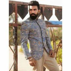 Printed Trendy Jodhpuri Coat, Size: S-XL