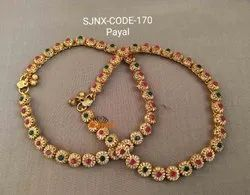 Copper Traditional Payal for Women