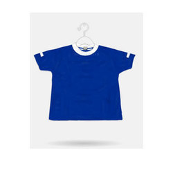 Plain Half Sleeve Blue Cotton T-Shirt