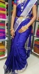 Ladies Yellow Ikkat Silk Saree