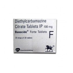 100mg Diethylcarbamazine Citrate Tablets, Packaging Type: Box