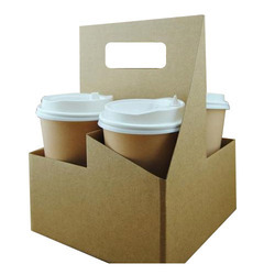 Paper Coffee Cup Holder, for Office, Capacity: 4 Cup