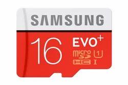 Kingston Samsung 16 GB Evo Plus memory card, Memory Size: 16GB, Size: MicroSD