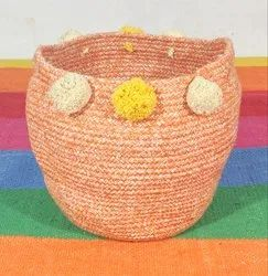 Round Handmade Cotton Basket