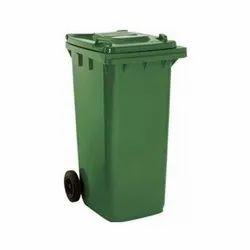 Green 240 Lt Plastic Wheeled Dustbin