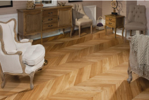 HKS Chevron Wooden Flooring
