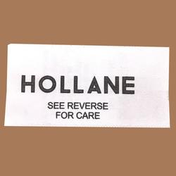 White Satin Printed Label