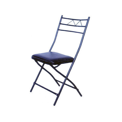 Mild Steel Black Deluxe Folding Chair, Height: 80 Cm