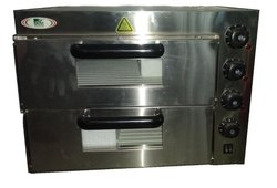 Electric Double Deck Mini Pizza Oven, Size: 560*570*440 Mm, 3 Kw