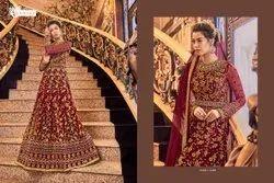 Maroon Bridal Anarkali Suit