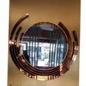 Glass Round Wall Mirror, Packaging Type: Box