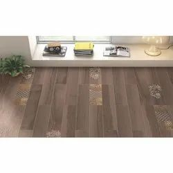Country Wood Body GVT Vitrified Tiles, Thickness: 6 - 8 mm